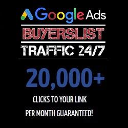 Google Ads Buyers List Traffic 24/7